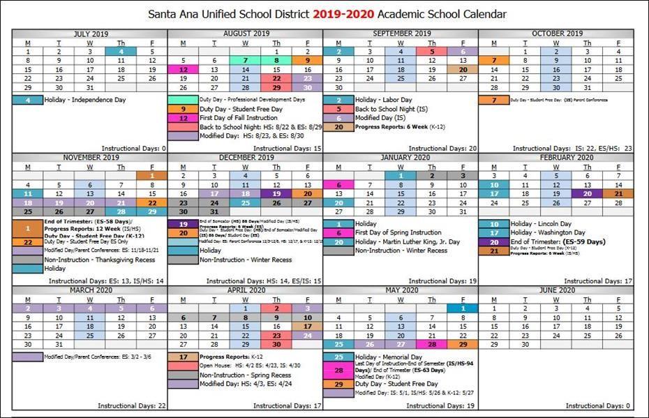 Svusd Calendar.Santiago School Home Page