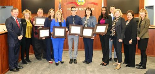 Two Santa Ana Unified School District employees recognized