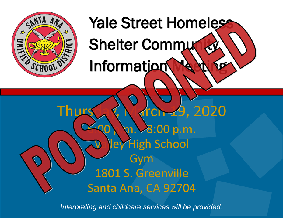 Postponed until further notice: Yale St. Homeless Shelter Community Information Meeting