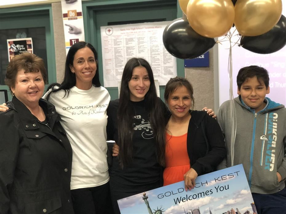 Santa Ana High School Choir student and her family were surprised with a trip to New York
