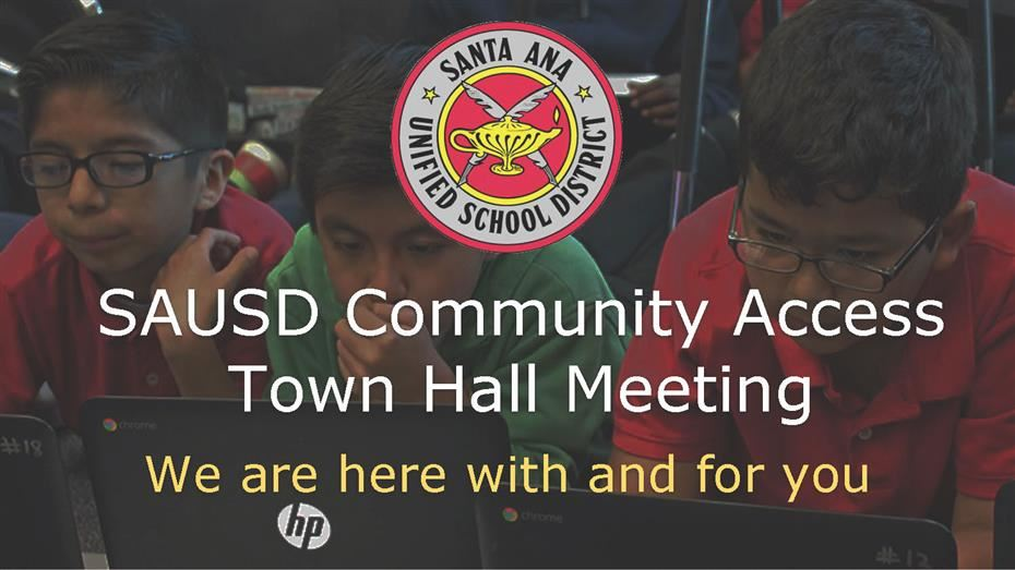 SAUSD Virtual Town Halls Provide Information on Resources Aimed to Support Students, Parents and Community Members