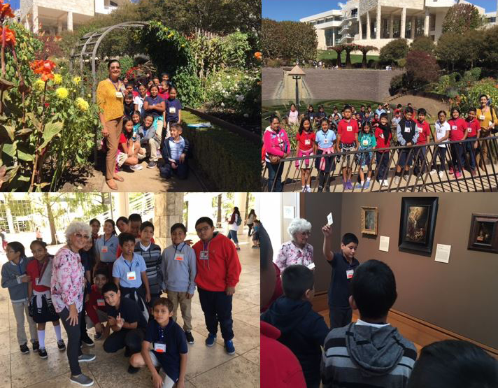 Walker Students Receive Art Lesson During A Trip To The Getty Museum