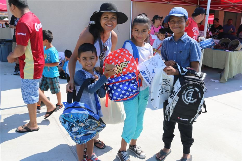 Students received free backpacks