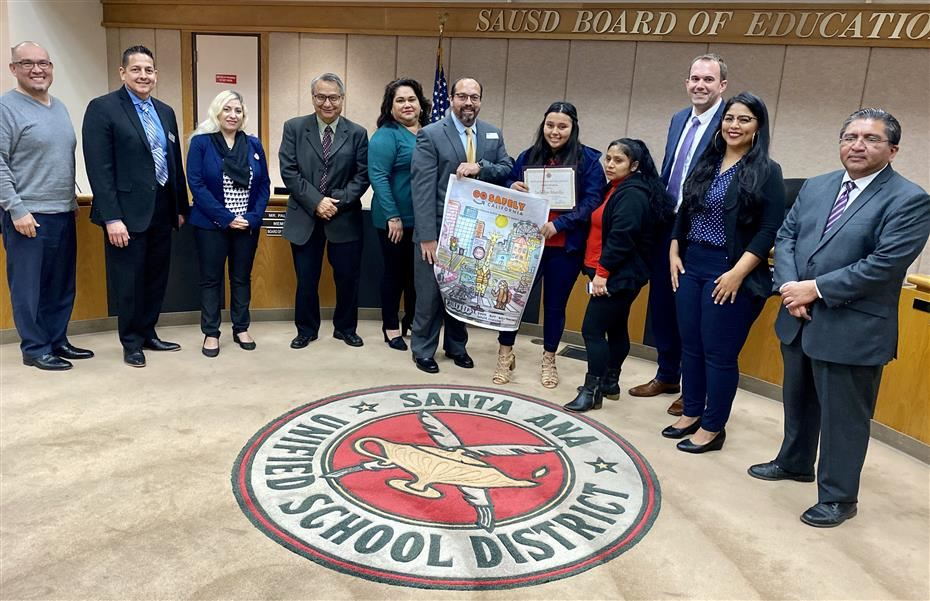 Santa Ana Unified School District Student Wins Art Contest