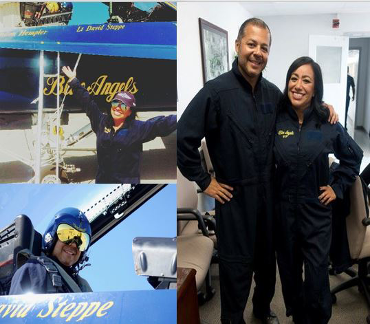 SAUSD Duo Honored as Key Influencers with Ride in U.S. Navy Blue Angels Airplane