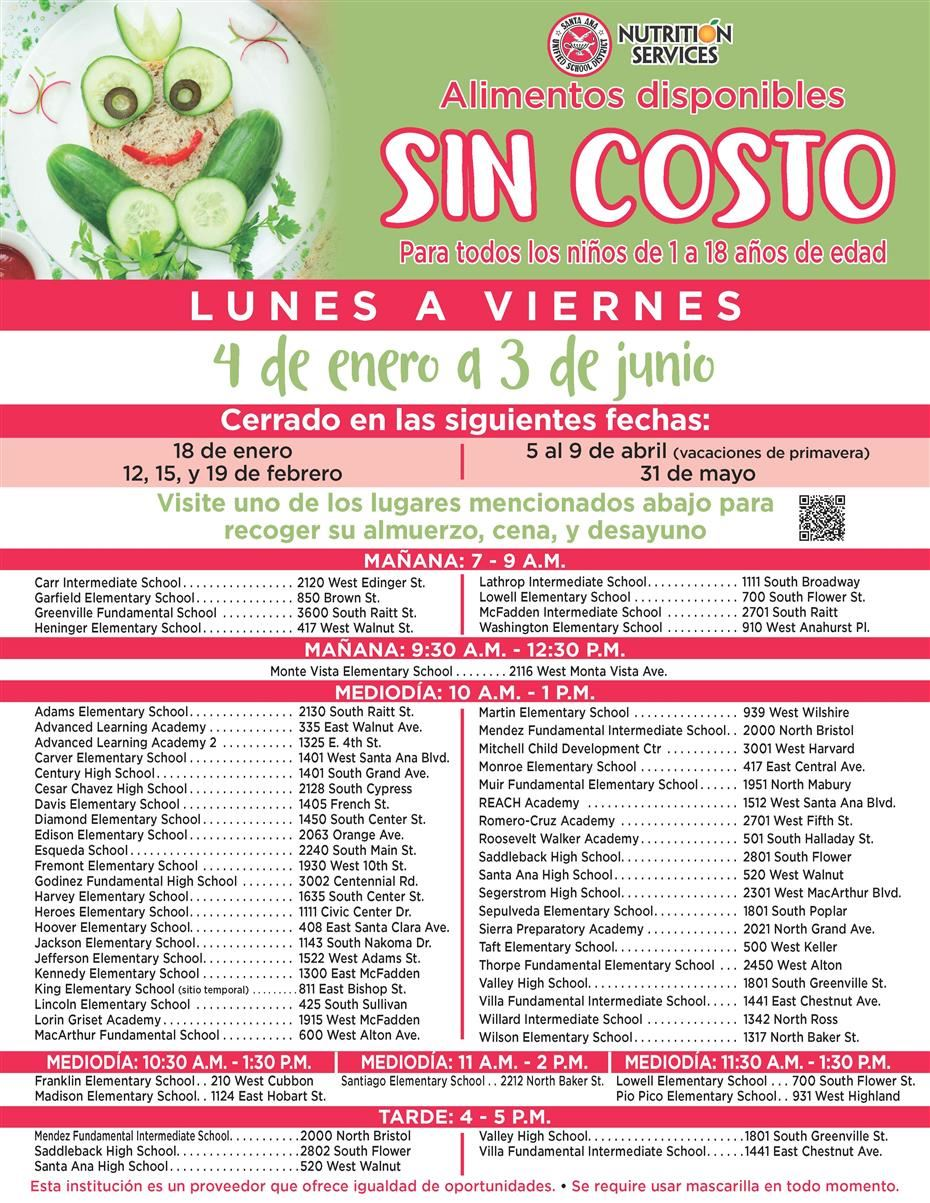 2021 Meal Service Flyer - Spanish