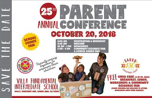 25th Annual Parent Conference: Saturday, October 20, 2018