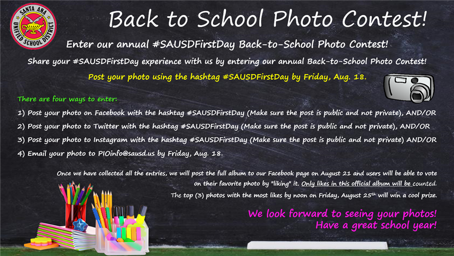 Enter our Back-to-School Photo Contest!