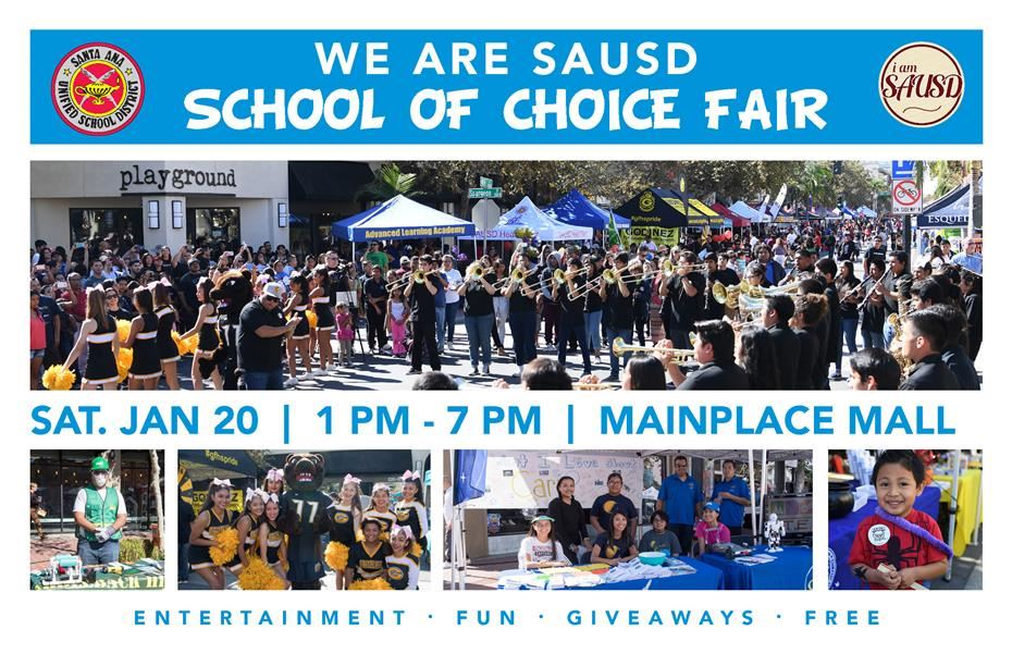 Santa Ana Unified School District to Host School of Choice Fair January 20, 2018