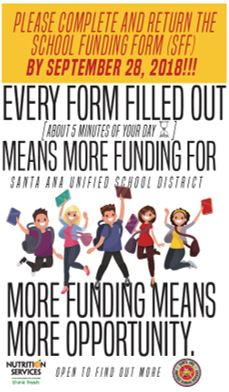 Please Click Here to Complete the School Funding Form by September 28, 2018