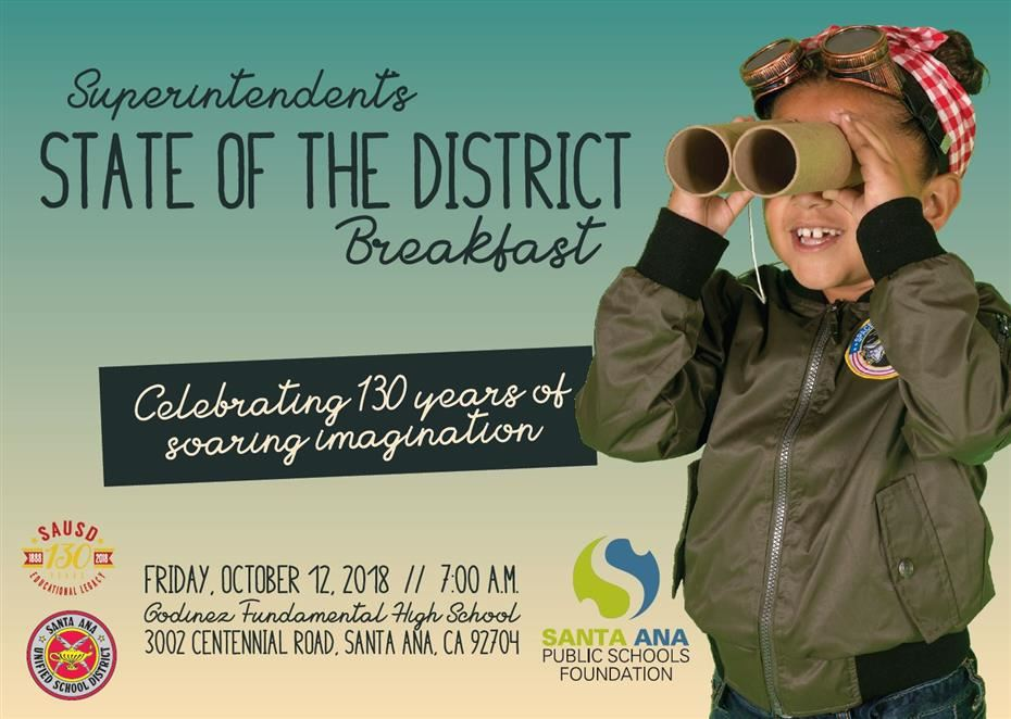 Watch the Superintendent's State of the District Breakfast Live