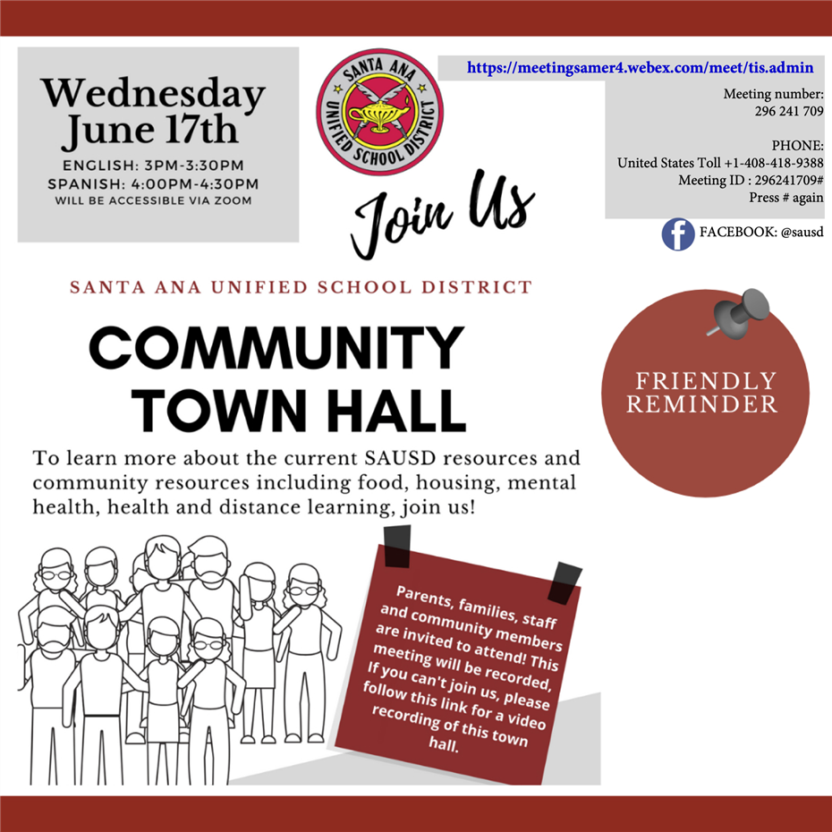 June 17, 2020: SAUSD Community Town Hall