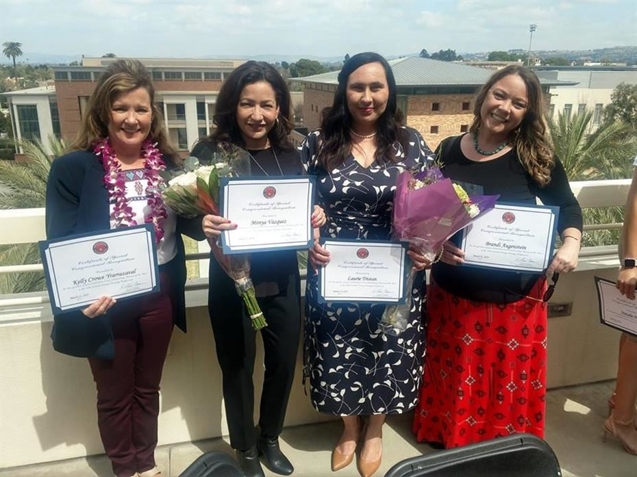 SAUSD Employees, Volunteers Receive 'Woman of the Year' Awards from Congressman J. Luis Correa