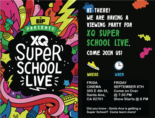 XQ Super School Live Flyer