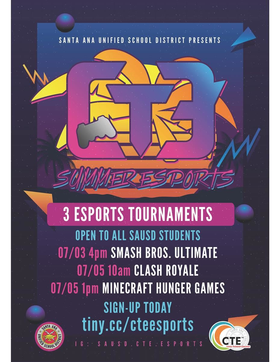 Santa Ana Unified School District to Offer Free Summer Esports Tournaments, July 3-5, 2020