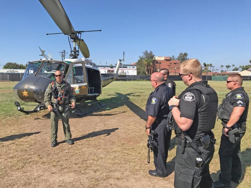 School Police Train On Emergency Helicopter Evacuations