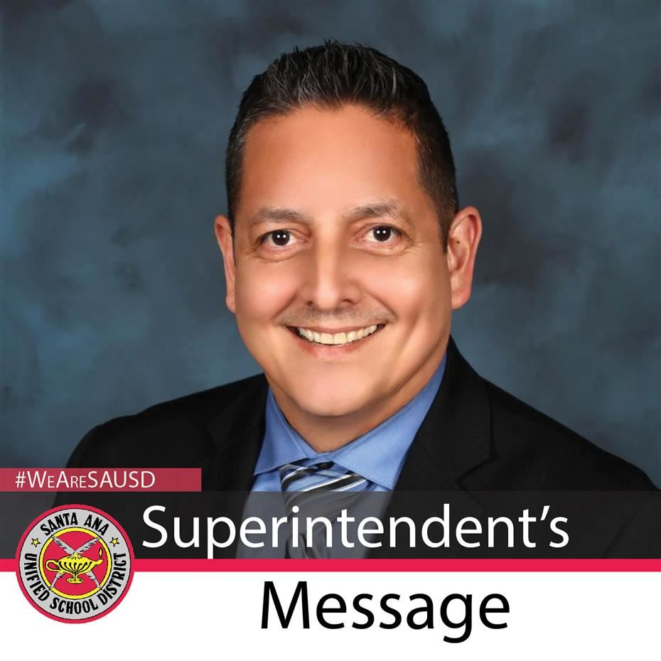 Message from Superintendent Almendarez to Santa Ana Unified School District Community Regarding Census 2020