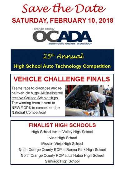 Santa Ana Valley Students Move Onto Next Round of Auto Skills Competition