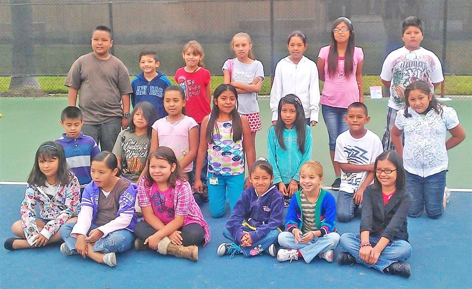 First Serve exposes SAUSD students to the game of tennis by providing free tennis lessons