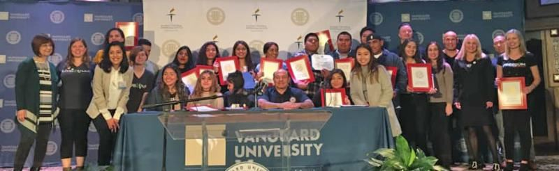 Students honored at Vanguard