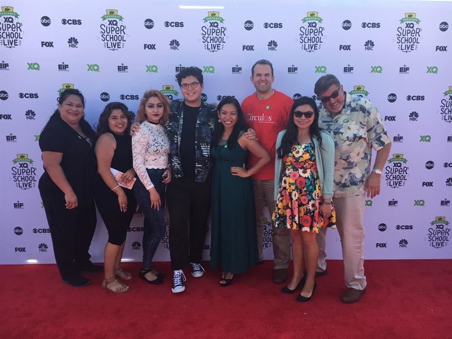 SAUSD representatives on the red carpet