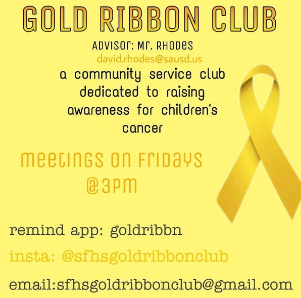 Gold Ribbon Flyer