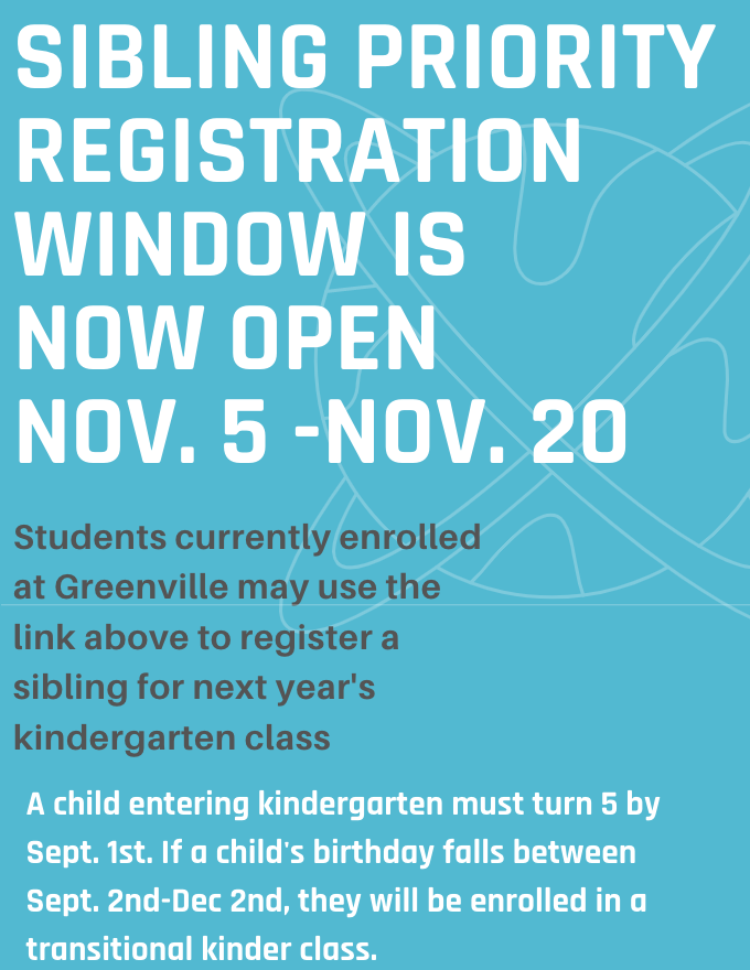 Sibling Priority Registration Window is now open