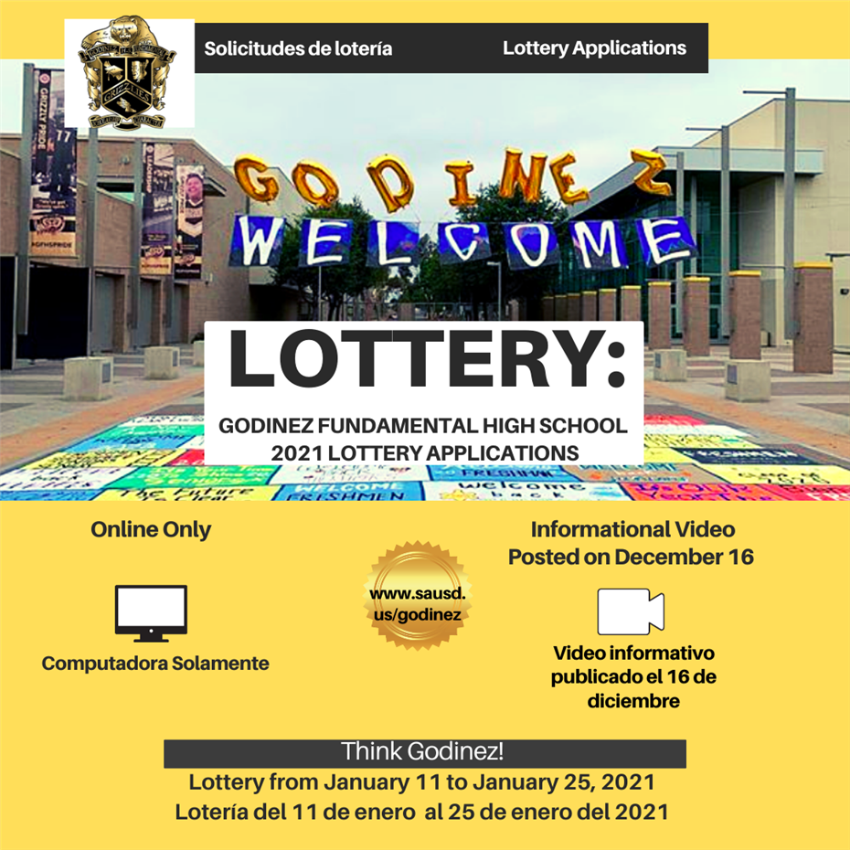 Flyer announcing lottery