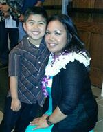 Ms. Camacho and son, Talani