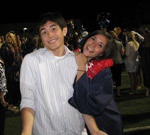 Cody and Kiersten at Kiersten's graduation in June