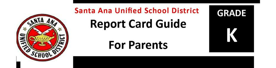 Report Card Guide K