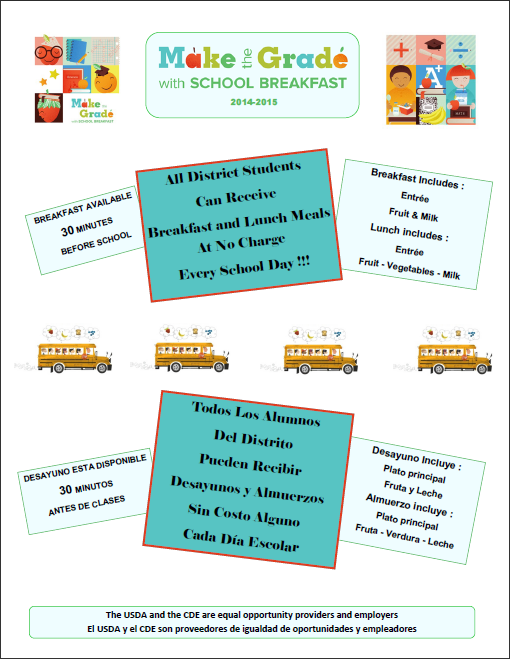 Make the Grade with School Breakfast 2014-2015