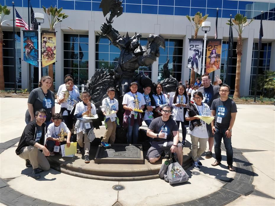 Group picture at the Blizzard Campus