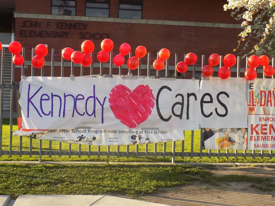 Kennedy Cares Sign out front