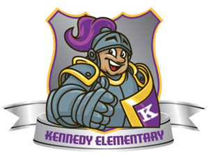The cartoon crusader mascot for Kennedy Elementary