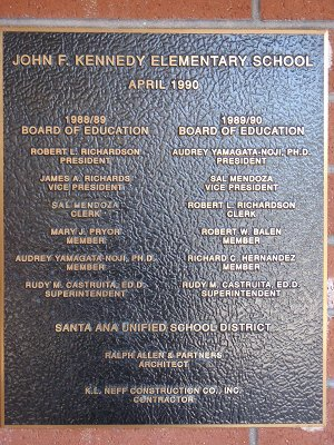 John F. Kennedy Plaque