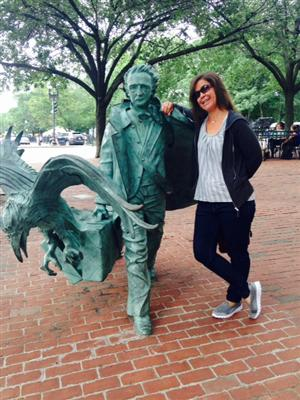 Poes & Ms. Stern in Boston