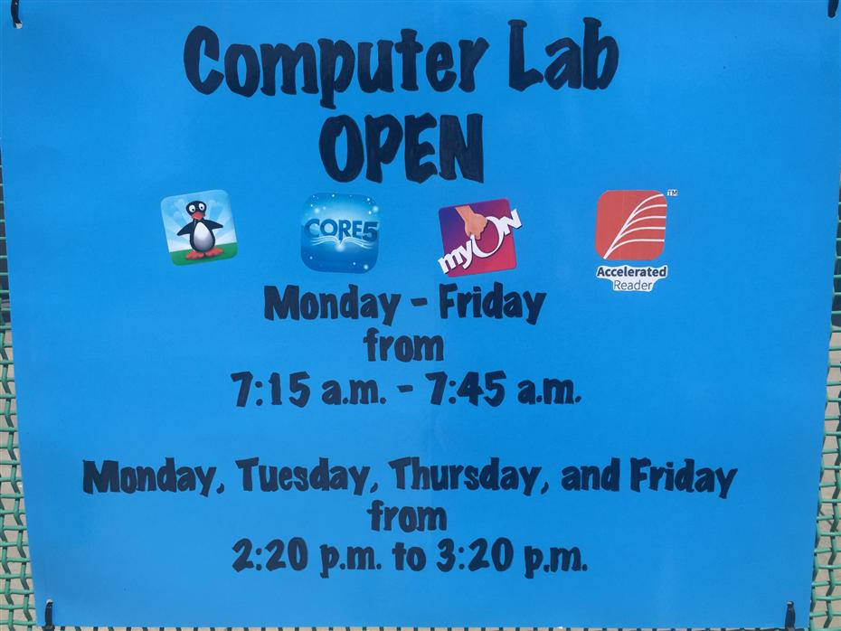 computer lab times