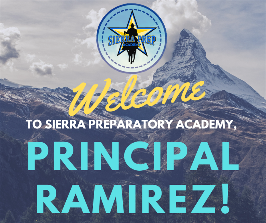 Introducing our new principal, Mr. Ramirez!