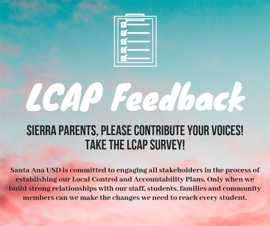 LCAP Feedback Survey