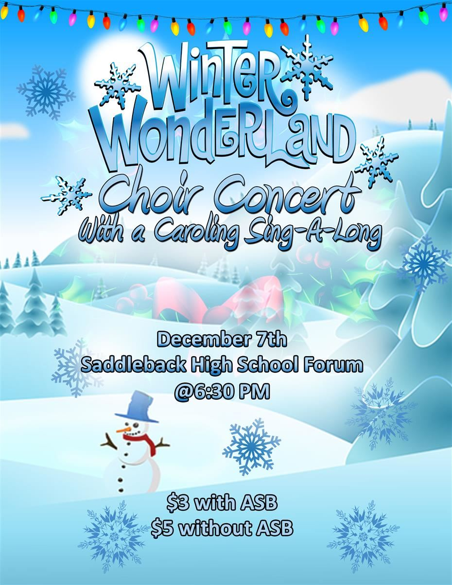 Flyer for Choir Winter Concert by Bryan Calderon