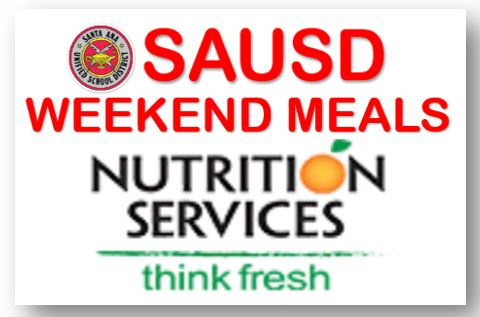 SAUSD Weekend Meals will be Served on Fridays Starting March 5th to All Children Ages 1-18