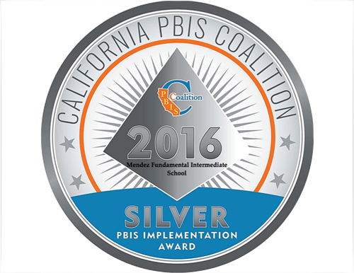 Mendez is honored by the California PBIS Coalition