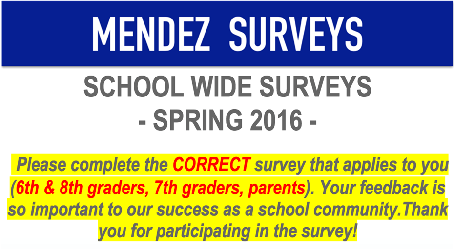Important School Surveys