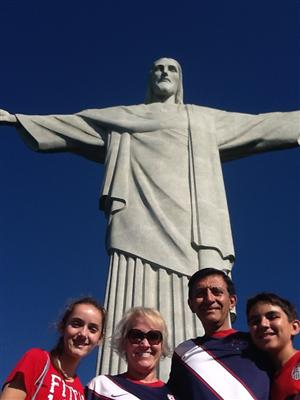 My family at Christ the Redeemer