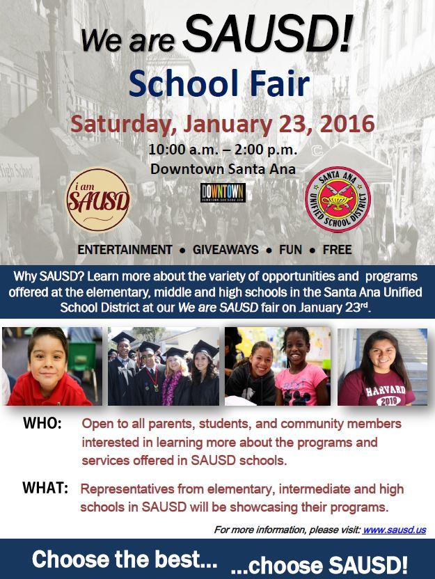 We are SAUSD! School Fair Photos