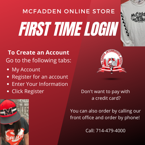 Buy McFadden Spirit Wear on our Web Store!