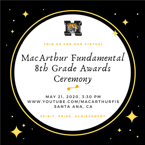 8th Grade Awards Ceremony - Watch the Replay Here
