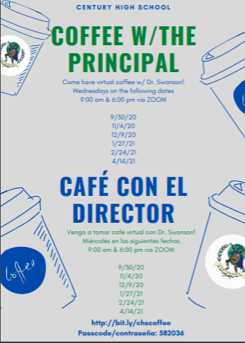 Coffee with the Principal, 2020-2021