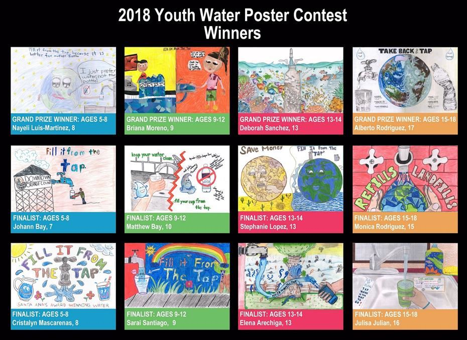 2018 Youth Water Poster Contest Winners
